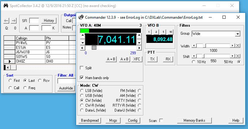 DX Lab - Win4IcomSuite for Icom Radios