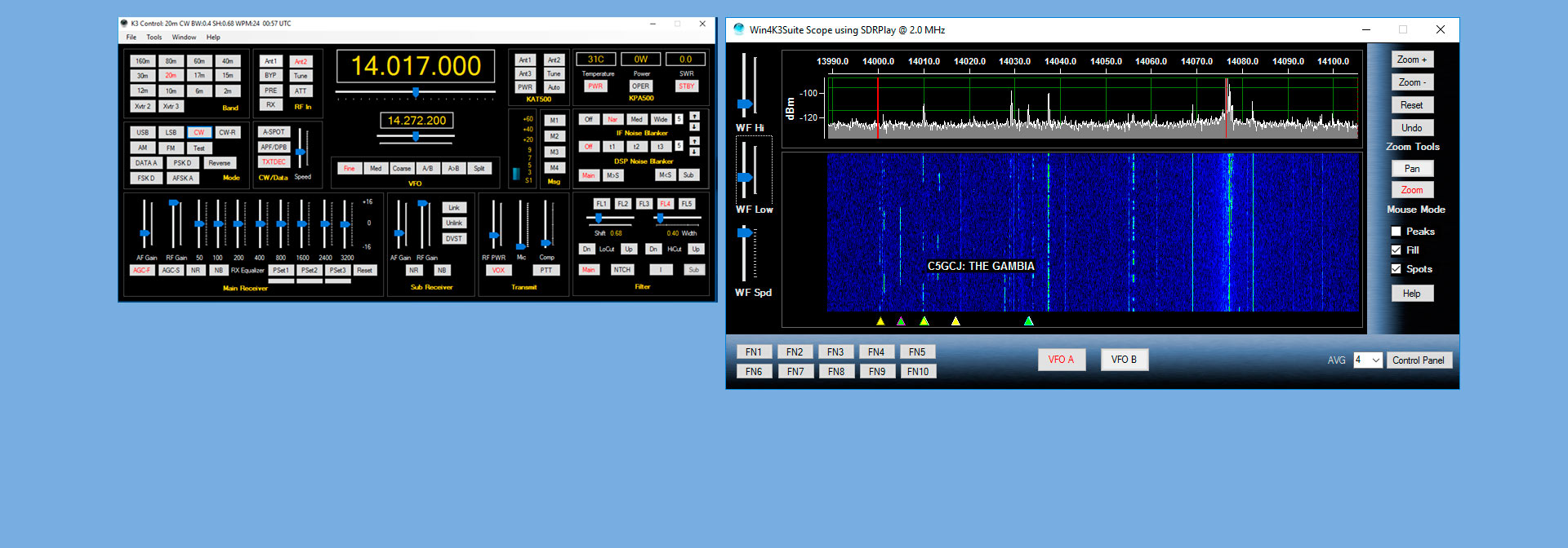 SDRPlay - Win4K3Suite for the Elecraft K3 K3S KX3 and KX2